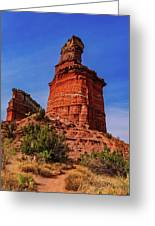 Lighthouse At Palo Duro Canyon Greeting Card