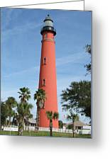Lighthouse At Ponce Inlet Greeting Card