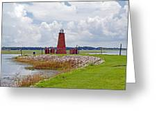 Lighthouse At Port Kissimmee On Lake Tohopekaliga In Central Florida   Greeting Card