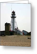 Lighthouse At White Fish Point Michigan Greeting Card