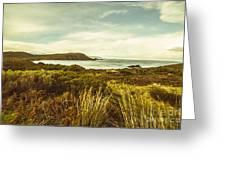 Lighthouse Bay Beach Bruny Island Greeting Card