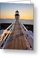 Lighthouse Boardwalk Greeting Card by Benjamin Williamson