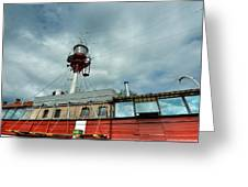 Lighthouse-boat Greeting Card