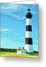 Lighthouse Bodie Island Greeting Card