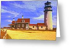Lighthouse Cape Cod Greeting Card