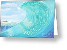 Lighthouse Curl Greeting Card