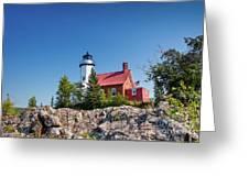 Lighthouse Eagle Harbor Lake Superior -6533 Greeting Card