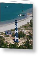 Lighthouse From Above Greeting Card