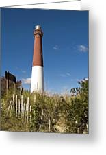 Lighthouse From Dunes Greeting Card