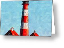 Lighthouse - Id 16217-152045-8706 Greeting Card