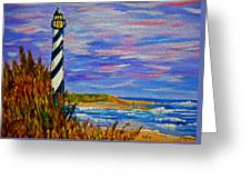 Lighthouse- Impressionism- The Coast Greeting Card