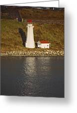 Lighthouse In Maine Greeting Card