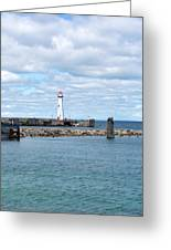 Lighthouse In Michigan Greeting Card
