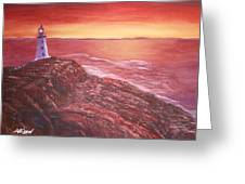 Lighthouse In Newfoundland Greeting Card