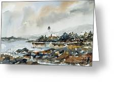 Lighthouse Inlet Greeting Card