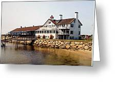 Lighthouse Inn At Bass River Greeting Card