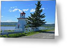 Lighthouse Landscape Four Greeting Card