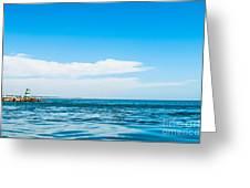 Lighthouse Greeting Card by Luis Alvarenga