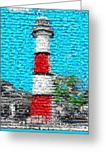 Lighthouse Made Of Lighthouses Mosaic Greeting Card