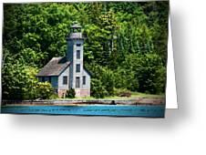 Lighthouse Munising Bay Greeting Card