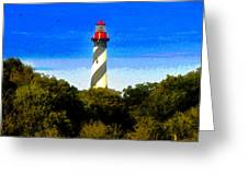 Lighthouse Of Saint Augustine Greeting Card