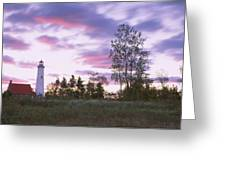 Lighthouse On A Landscape, Tawas Point Greeting Card