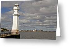Lighthouse On A Sunny Day. Greeting Card