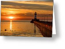 Lighthouse On Glass Greeting Card