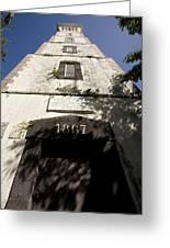 Lighthouse On Point Venus Greeting Card