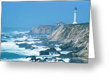 Lighthouse On The California Coast Greeting Card