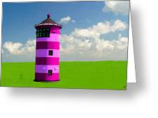 Lighthouse On The Island Greeting Card