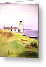 Lighthouse On The Isle Of May Greeting Card