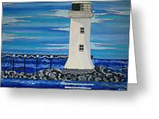Lighthouse On The Shannon Greeting Card