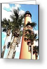 Lighthouse Palms Greeting Card