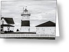 Lighthouse Point In Black And White #5 Greeting Card