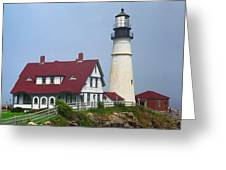 Lighthouse - Portland Head Maine Greeting Card