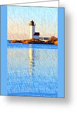 Lighthouse Reflection Greeting Card