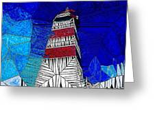 Lighthouse Stained Glass  Greeting Card