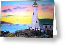 Lighthouse Study Greeting Card