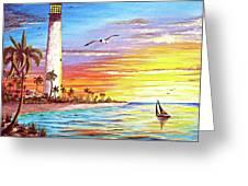 Lighthouse Sunrise Greeting Card