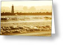 Lighthouse Sunset Greeting Card