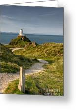 Lighthouse Twr Mawr Greeting Card