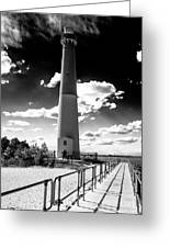 Lighthouse Walk Long Beach Island Greeting Card