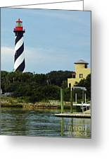 Lighthouse Water View Greeting Card