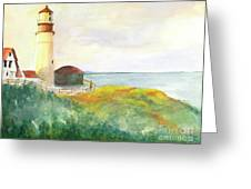 Lighthouse-watercolor Greeting Card