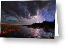 Lighting On The Lake Greeting Card