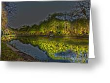 Lighting The Erie Canal Greeting Card