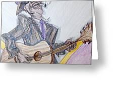 Lightnin Hopkins Blues Sketch Greeting Card