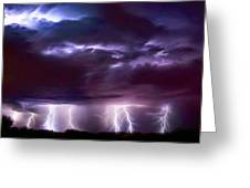 Lightning Above And Below Greeting Card