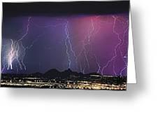 Lightning City Greeting Card